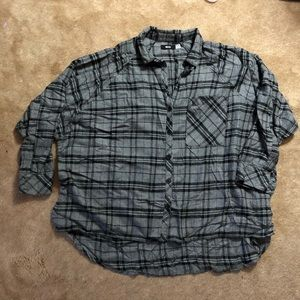 Oversized boxy flannel shirt urban outfitters